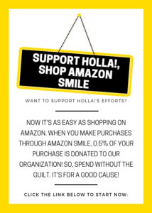 Support HOLLA!, Shop Amazon Smile
